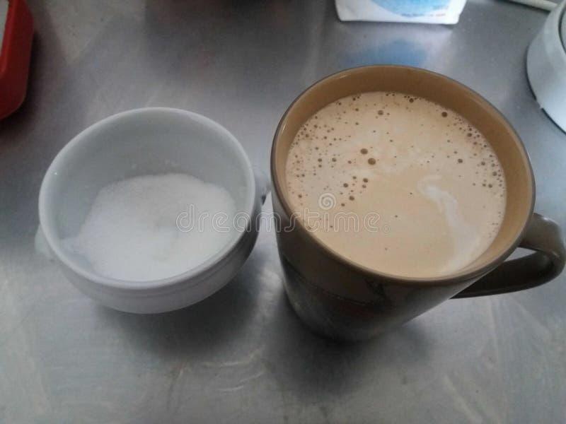 Ζάχαρη και καφές στοκ εικόνες με δικαίωμα ελεύθερης χρήσης