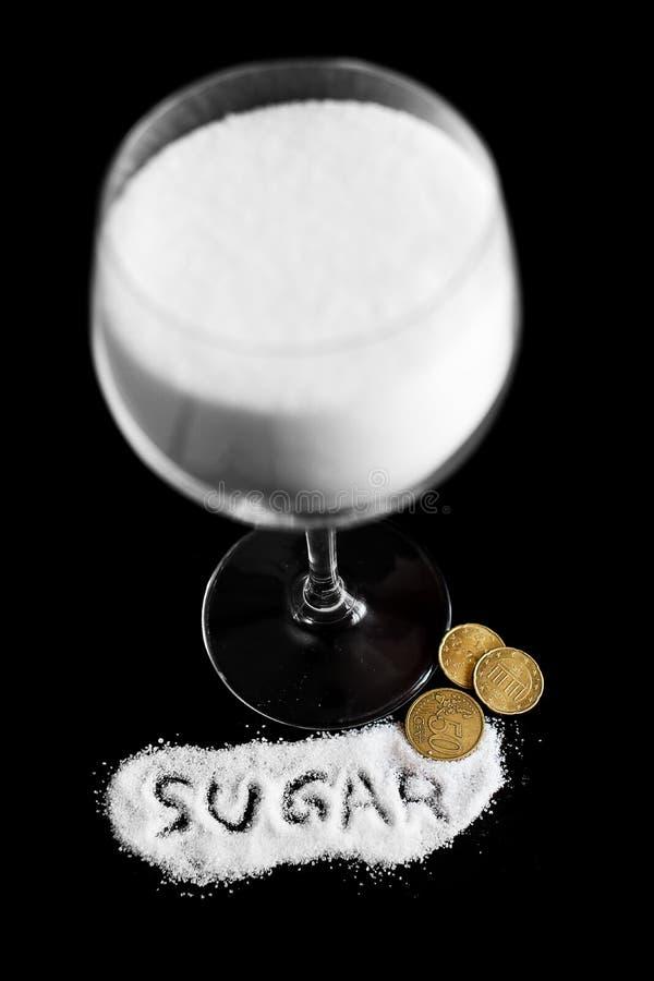 Ζάχαρη και χρήματα στοκ φωτογραφίες με δικαίωμα ελεύθερης χρήσης