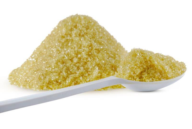 Ζάχαρη καλάμων που απομονώνεται στο λευκό στοκ φωτογραφία
