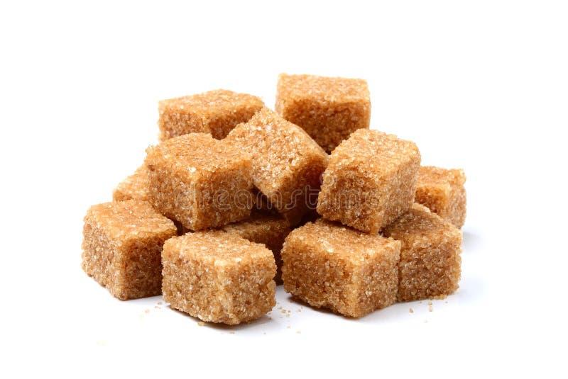Ζάχαρη καλάμων υπό μορφή τετραγώνων στοκ εικόνες