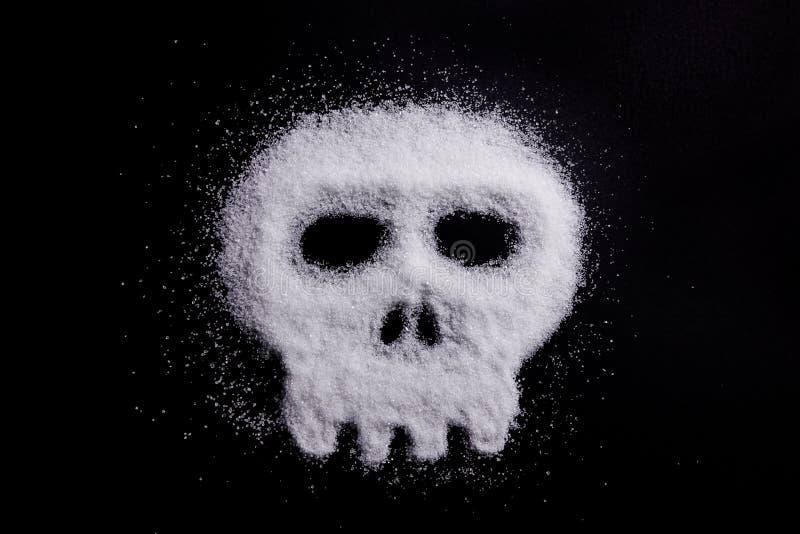 Ζάχαρη υπό μορφή κρανίου στοκ φωτογραφίες