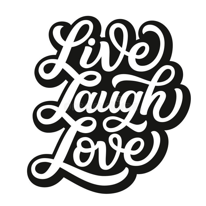 Ζήστε αγάπη γέλιου Διανυσματική τυπογραφία απεικόνιση αποθεμάτων