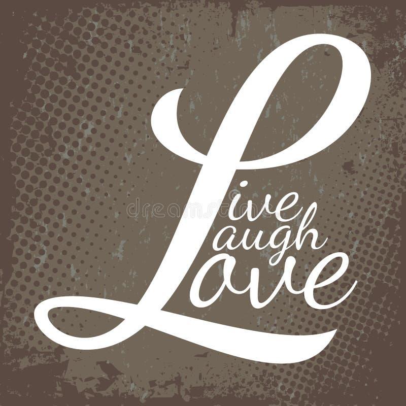 Ζήστε αγάπη γέλιου ελεύθερη απεικόνιση δικαιώματος