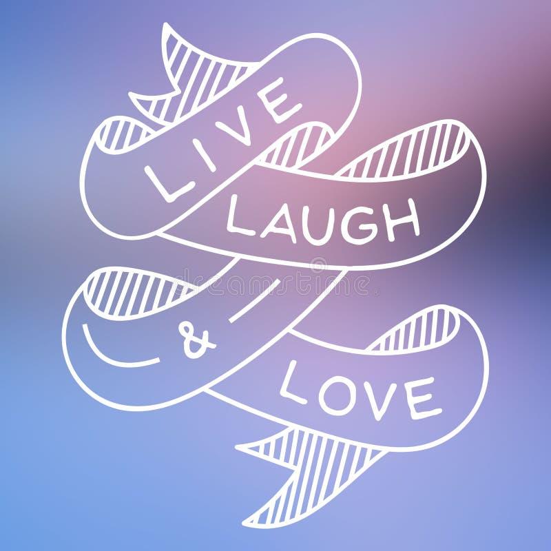 Ζήστε γέλιο και αγάπη διανυσματική απεικόνιση