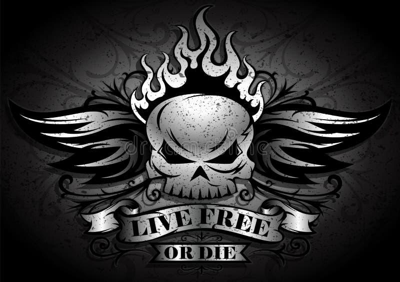 Ζήστε ελεύθερος ή κύβος ελεύθερη απεικόνιση δικαιώματος