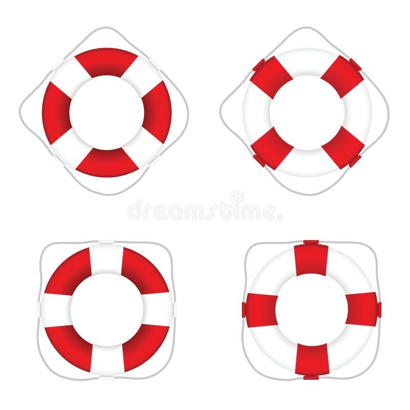 Ζήστε καθορισμένη απεικόνιση χρώματος αποταμιευτών κόκκινη και άσπρη απεικόνιση αποθεμάτων