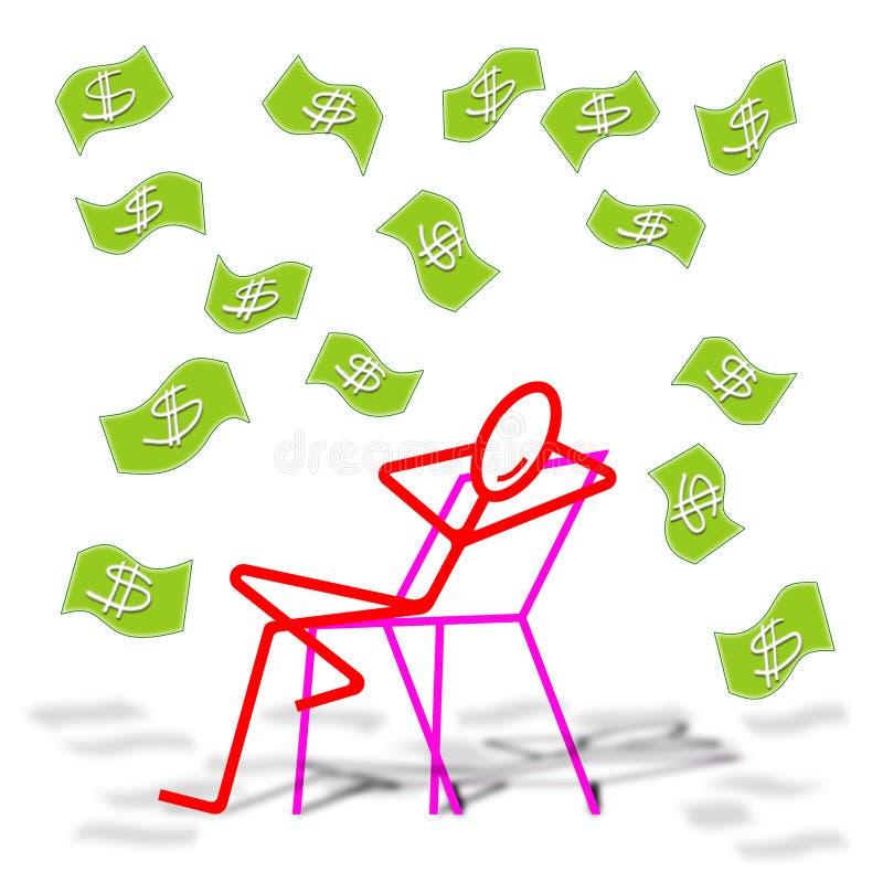 Ζήστε μακριά του ιδιωτικού εισοδήματος απεικόνιση αποθεμάτων