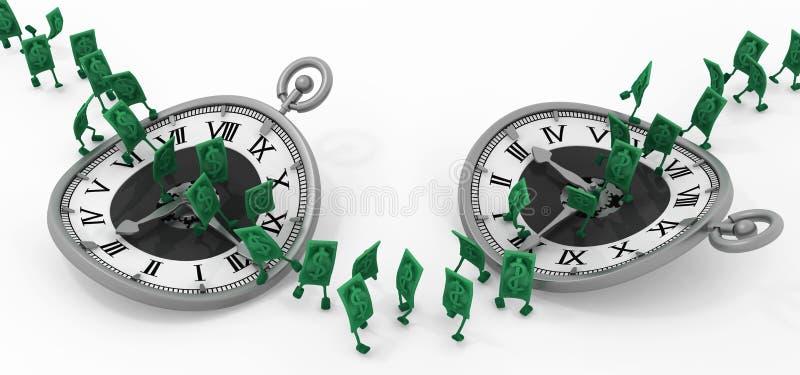 Ζήστε μετρητά, χρονικό τρέξιμο δύο ελεύθερη απεικόνιση δικαιώματος