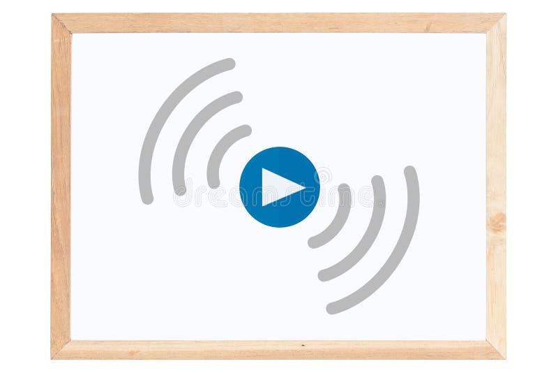 Ζήστε ρέοντας εικονίδιο στο whiteboard απεικόνιση αποθεμάτων