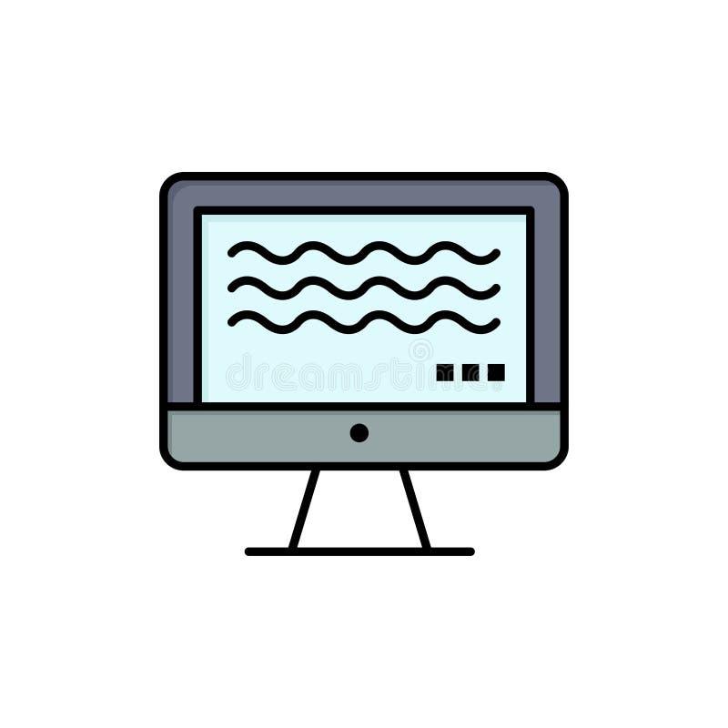 Ζήστε, ρέοντας, ζωντανή ροή, ψηφιακό επίπεδο εικονίδιο χρώματος Διανυσματικό πρότυπο εμβλημάτων εικονιδίων ελεύθερη απεικόνιση δικαιώματος