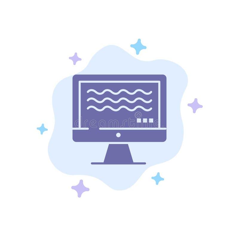 Ζήστε, ρέοντας, ζωντανή ροή, ψηφιακό μπλε εικονίδιο στο αφηρημένο υπόβαθρο σύννεφων διανυσματική απεικόνιση