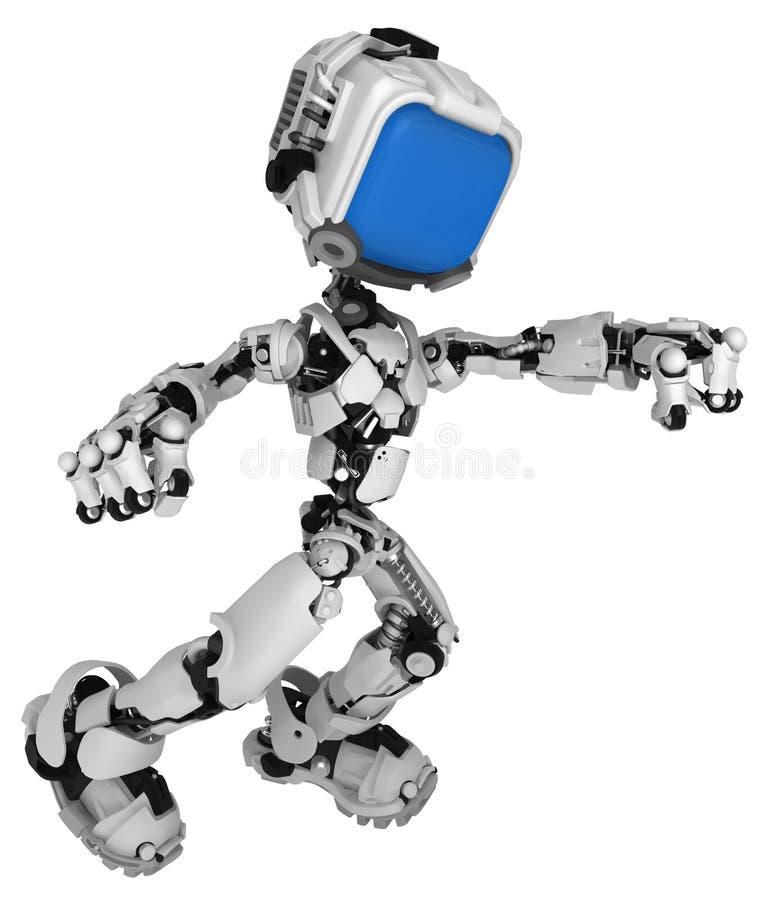 Ζήστε ρομπότ οθόνης, Punching διανυσματική απεικόνιση