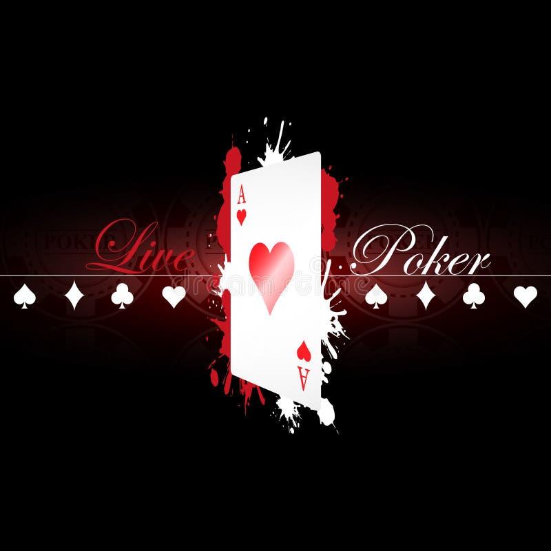 Ζήστε υπόβαθρο πόκερ με τα στοιχεία παιχνιδιών απεικόνιση αποθεμάτων