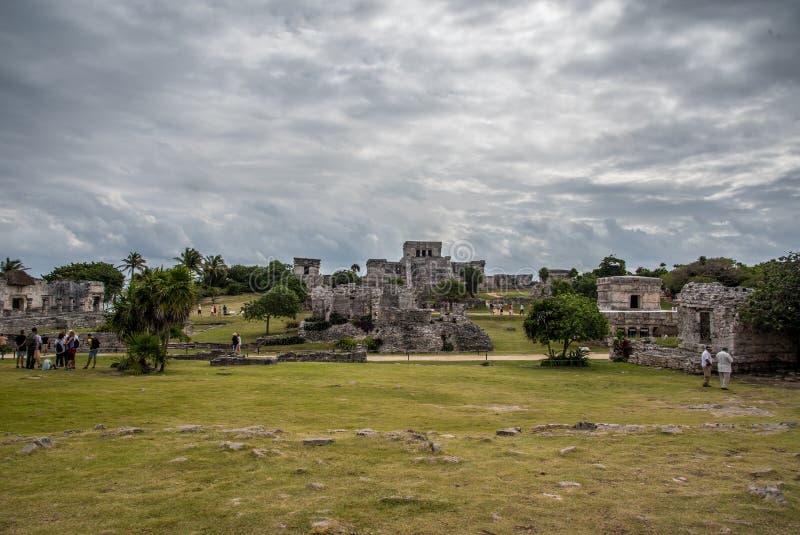 Ζαλίζοντας αρχαίος πολιτισμός του Μεξικού tulum στοκ φωτογραφία με δικαίωμα ελεύθερης χρήσης