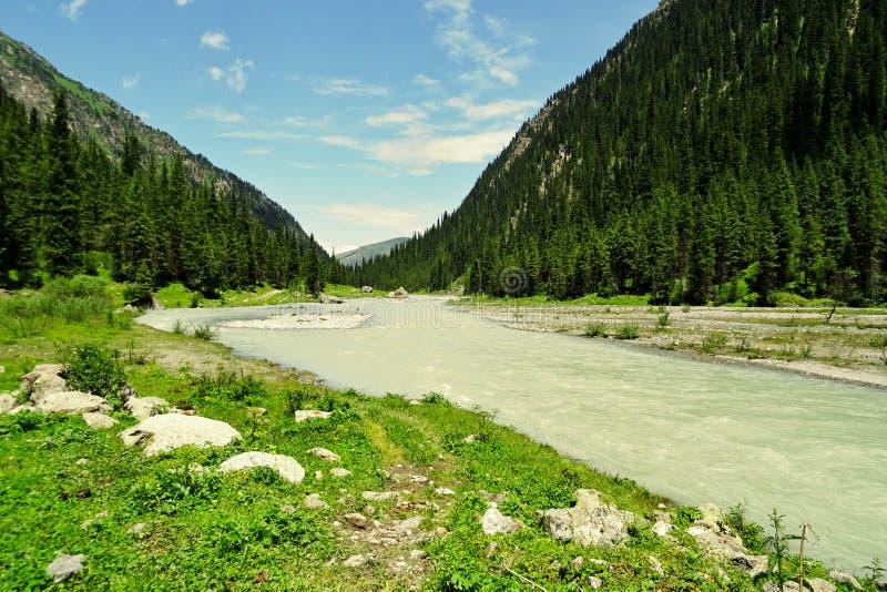 Ζαλίζοντας ομορφιά της φύσης στο Κιργιστάν στοκ εικόνες