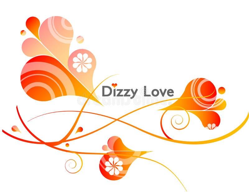 ζαλισμένο διάνυσμα αγάπη&sigmaf διανυσματική απεικόνιση