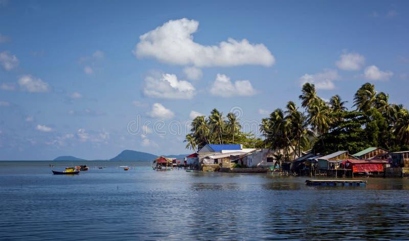 Ζαμπόν Ninh ψαροχώρι σε Phu Quoc στοκ φωτογραφία