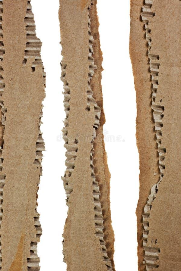 ζαρωμένα χαρτόνι λωρίδες στοκ εικόνα