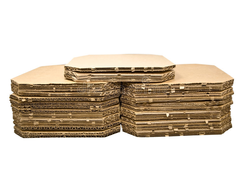 ζαρωμένες χαρτόνι στοίβε&sigmaf στοκ φωτογραφία με δικαίωμα ελεύθερης χρήσης