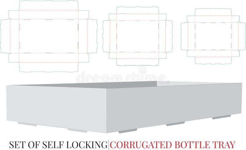 Ζαρωμένο πρότυπο δίσκων μπουκαλιών, διάνυσμα με τα τεμαχισμένα/στρώματα περικοπών λέιζερ Ζαρωμένος στέλνοντας δίσκος, σύνολο τριώ ελεύθερη απεικόνιση δικαιώματος