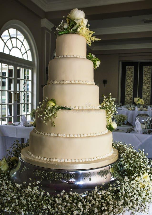 Ζαλίζοντας γαμήλιο κέικ στοκ εικόνες