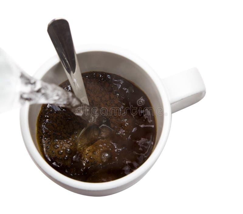 ζεστό νερό καφέ στοκ φωτογραφία με δικαίωμα ελεύθερης χρήσης