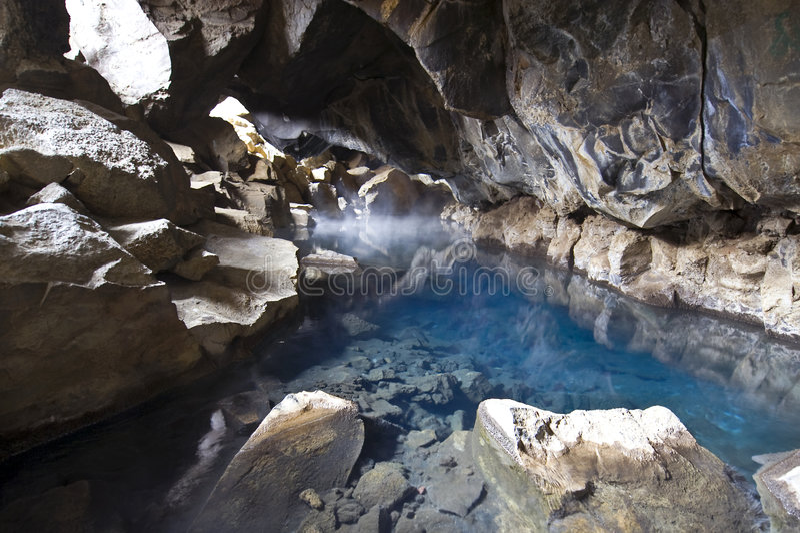 ζεστό νερό σπηλιών στοκ εικόνα