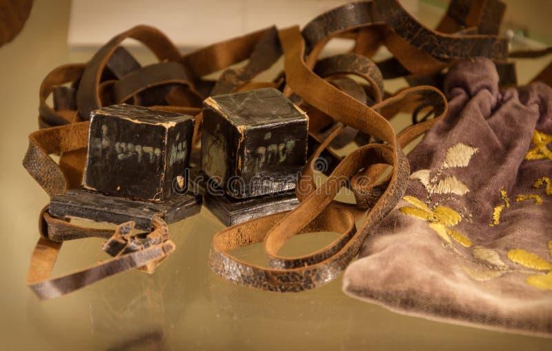 Ζευγάρι του παλαιού tefilin στοκ φωτογραφία με δικαίωμα ελεύθερης χρήσης