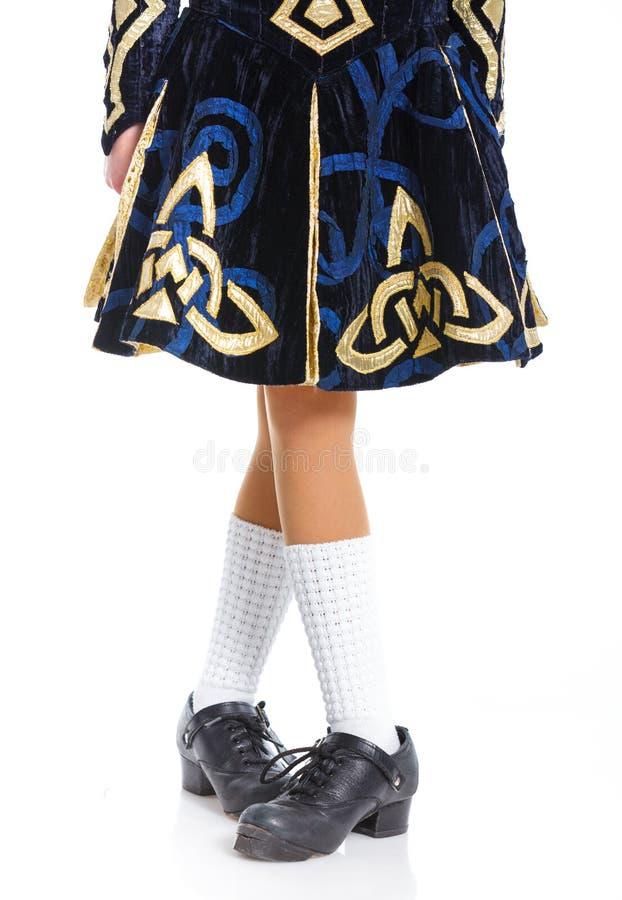 Ζευγάρι των ιρλανδικών χορεύοντας παπουτσιών στοκ φωτογραφίες με δικαίωμα ελεύθερης χρήσης