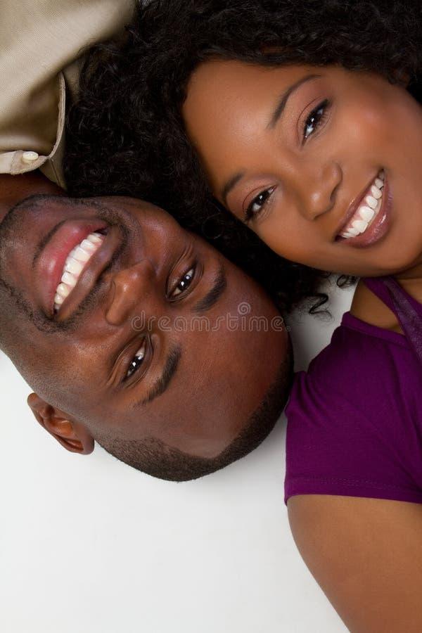 ζεύγος αφροαμερικάνων στοκ εικόνα με δικαίωμα ελεύθερης χρήσης