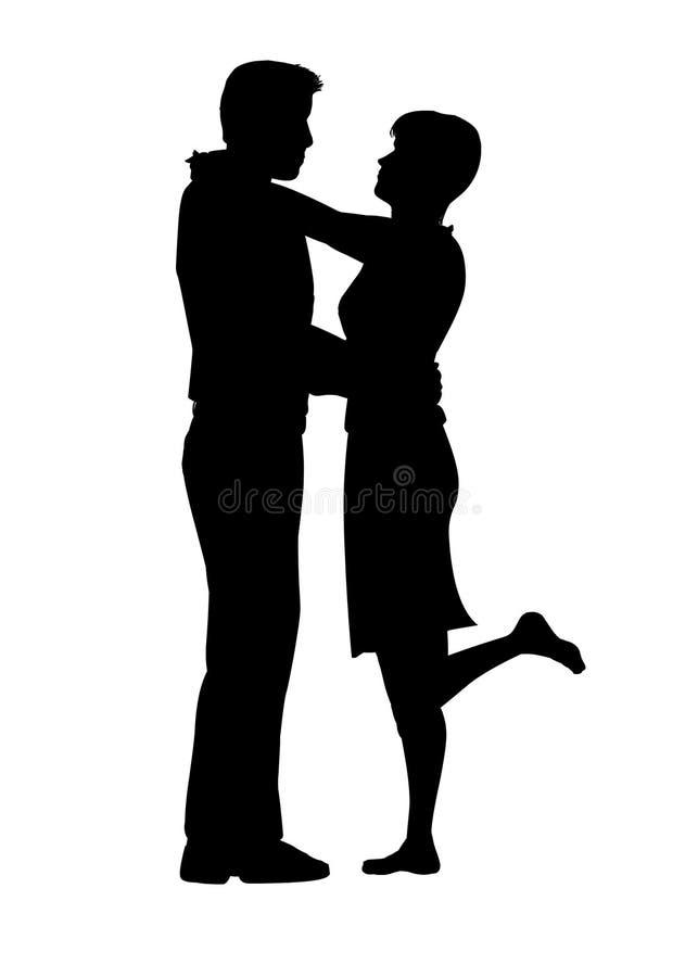 ζεύγος ρομαντικό απεικόνιση αποθεμάτων