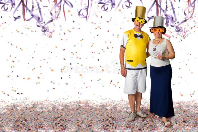 Ζεύγος στο κόμμα καρναβαλιού στοκ φωτογραφίες με δικαίωμα ελεύθερης χρήσης