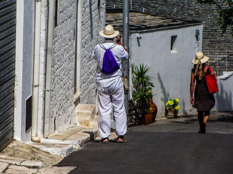 Ζεύγος τουριστών στοκ εικόνες