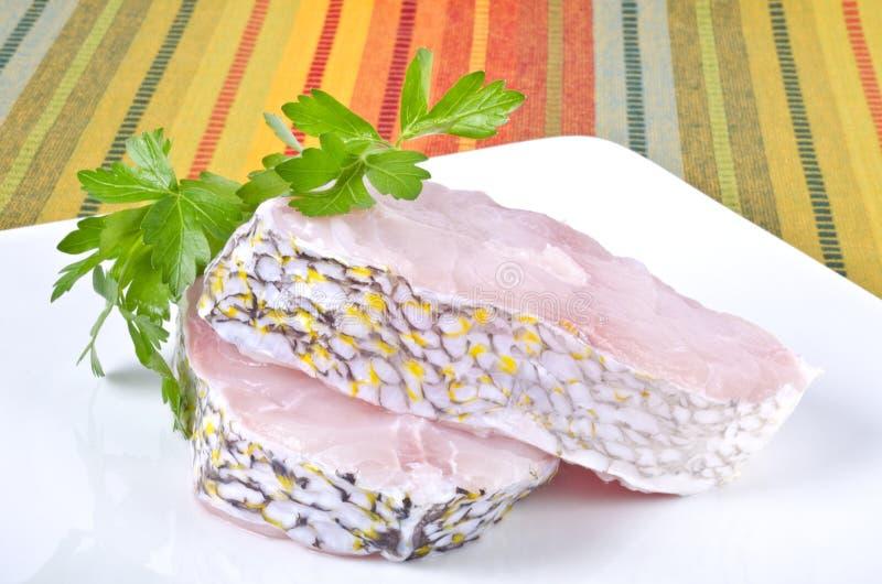 Ζεύγος των ακατέργαστων Grouper μπριζολών #3 στοκ φωτογραφία με δικαίωμα ελεύθερης χρήσης