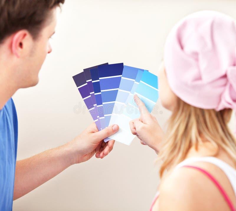 ζεύγος χρώματος που έχει στοκ εικόνες