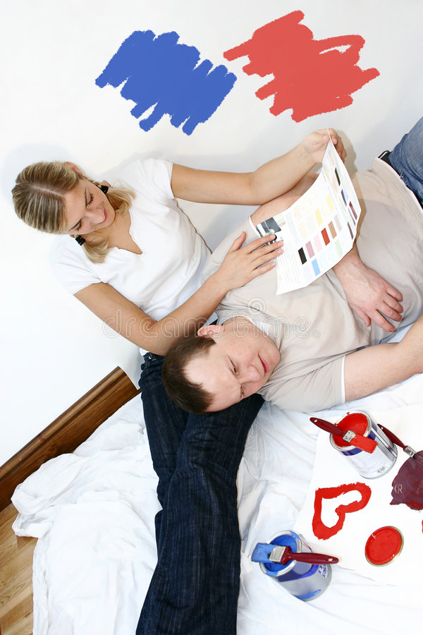 Download ζεύγος στοκ εικόνα. εικόνα από ζεύγος, σπίτι, άτομο, χρώμα - 1526569