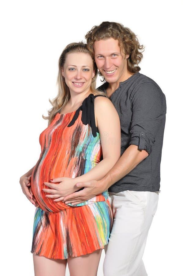 ζεύγος 4 μωρών που αναμένει στοκ φωτογραφία