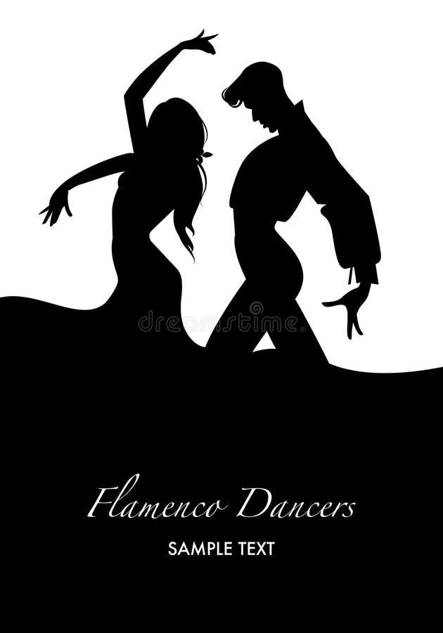 ζεύγος flamenco των χορευτών διανυσματική απεικόνιση