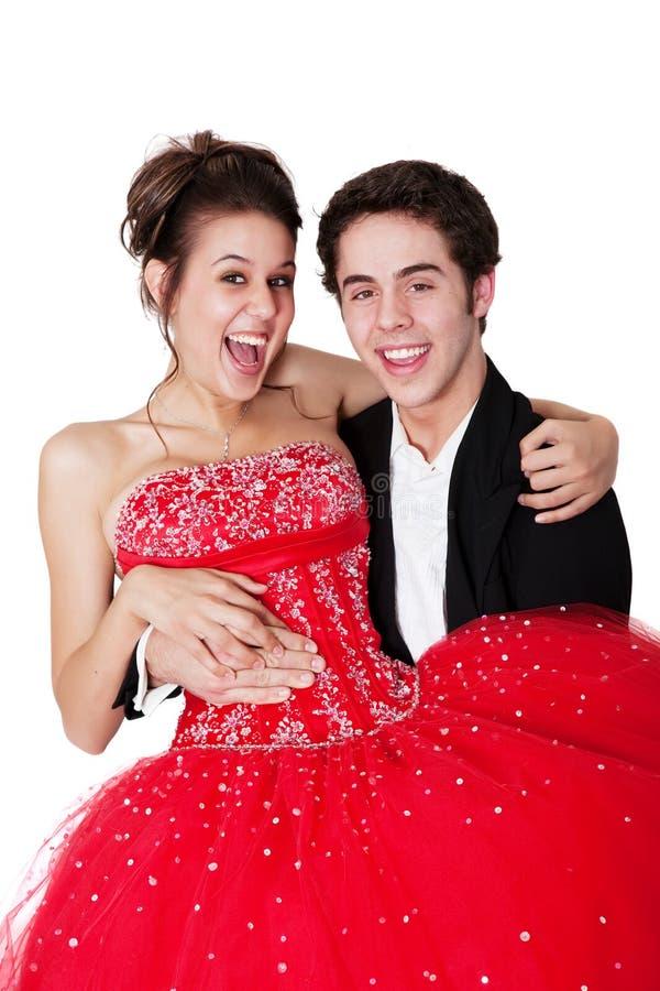 ζεύγος prom στοκ εικόνα με δικαίωμα ελεύθερης χρήσης