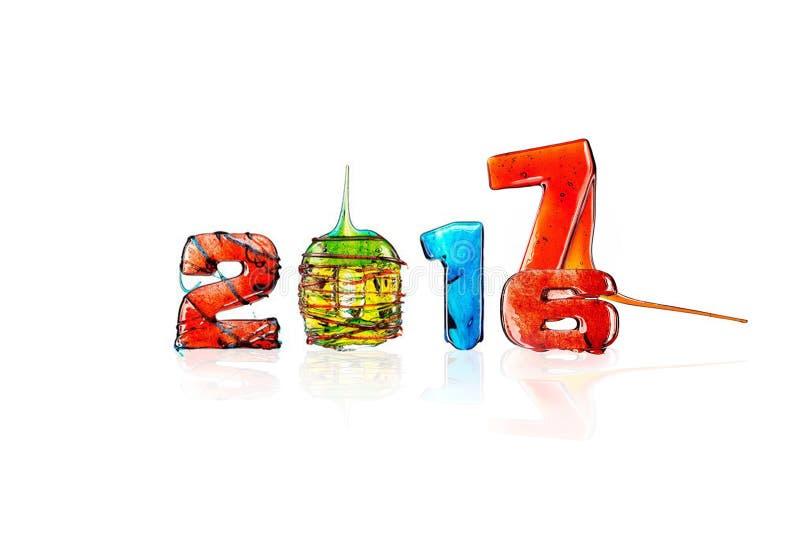 Ζελατίνα που απομονώνεται νέο έτος 2017 στοκ εικόνα με δικαίωμα ελεύθερης χρήσης
