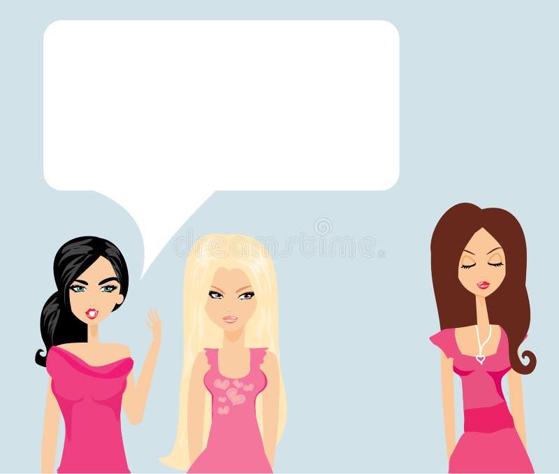 Ζηλόφθονο κουτσομπολιό δύο γυναικών ελεύθερη απεικόνιση δικαιώματος