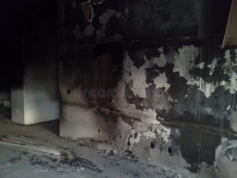 Ζημία πυρκαγιάς στοκ φωτογραφίες
