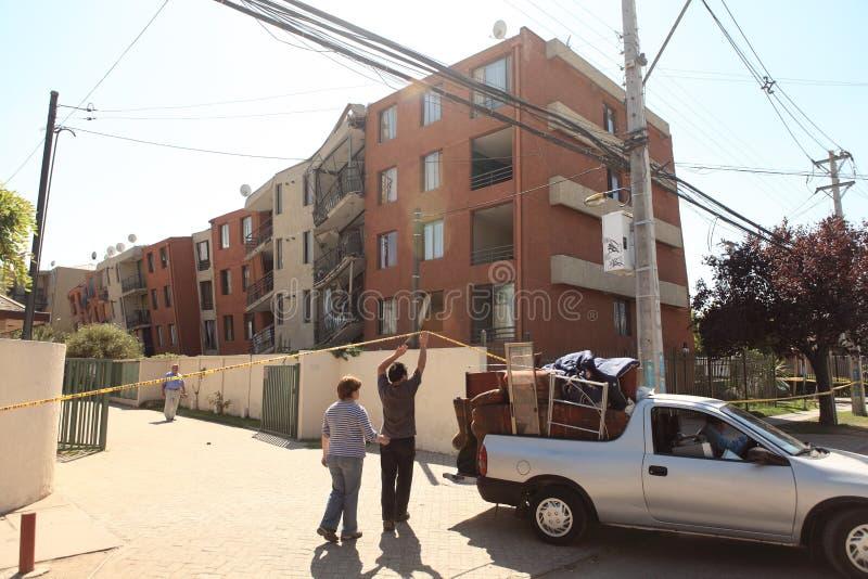Ζημία σεισμού, Χιλή στοκ φωτογραφίες με δικαίωμα ελεύθερης χρήσης