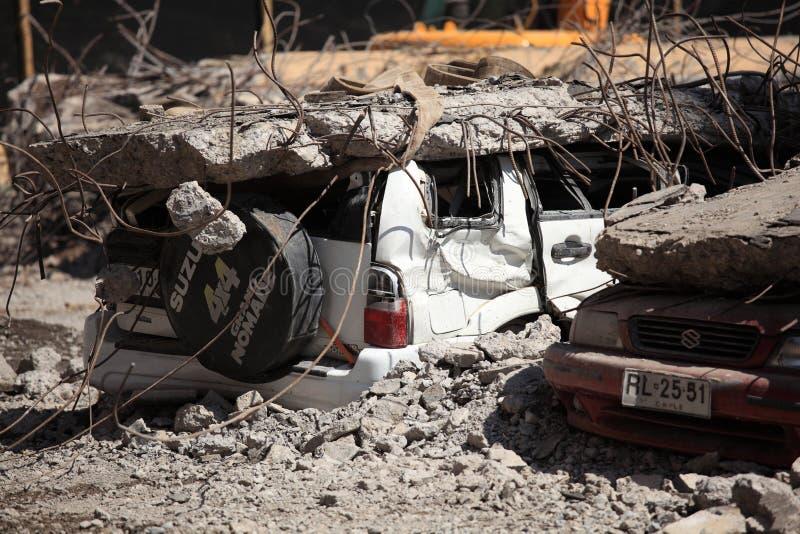 Ζημία σεισμού, Χιλή στοκ φωτογραφία με δικαίωμα ελεύθερης χρήσης