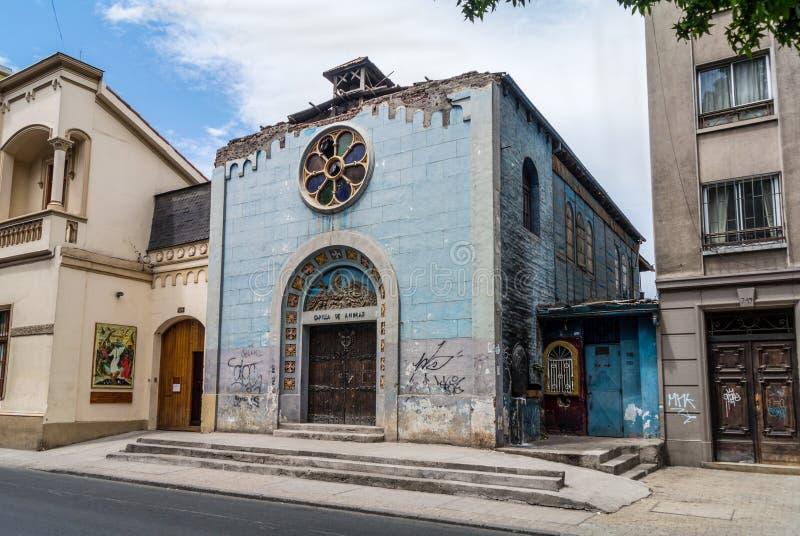 Ζημία στην παλαιά εκκλησία κατά τη διάρκεια του σεισμού του 2010 στο Σαντιάγο, στοκ εικόνα με δικαίωμα ελεύθερης χρήσης