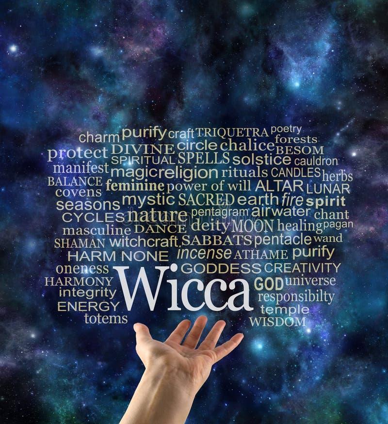 Ζημιά καμία κοσμικό σύννεφο ετικεττών Wicca Word διανυσματική απεικόνιση