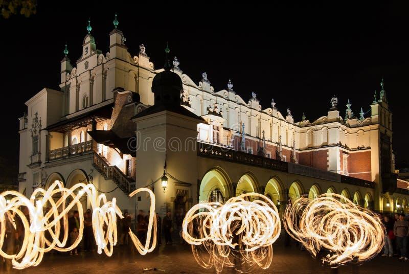 Ζογκλέρ στην Κρακοβία στοκ εικόνα με δικαίωμα ελεύθερης χρήσης