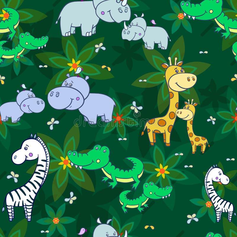 Ζούγκλα άνευ ραφής σχέδιο-01 στοκ εικόνα με δικαίωμα ελεύθερης χρήσης
