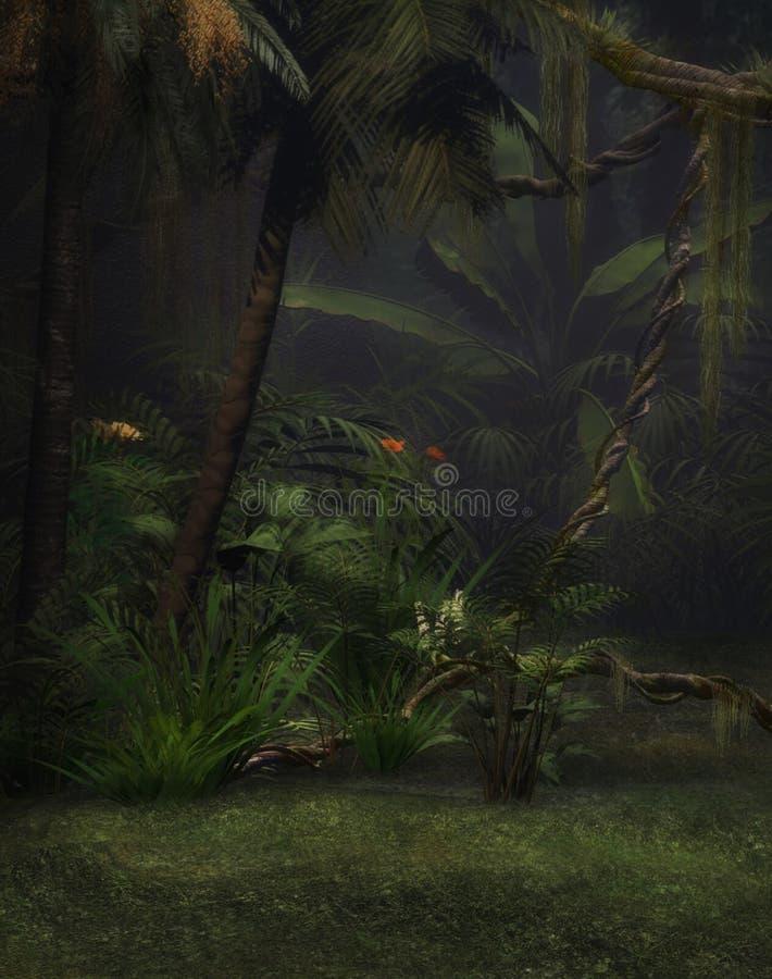 Ζούγκλα dreamland διανυσματική απεικόνιση