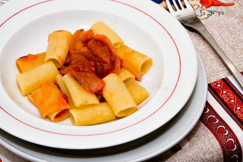 Ζυμαρικά και πιπέρια στοκ εικόνα